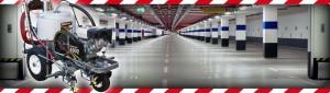 Oznakowany parking podziemny